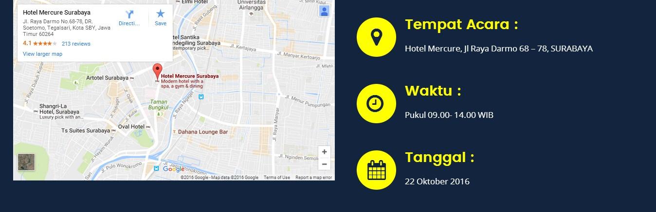 lokasi Seminar pembukuan dan tax planning pasca tax amnesty, Surabaya 22 Oktober 2016