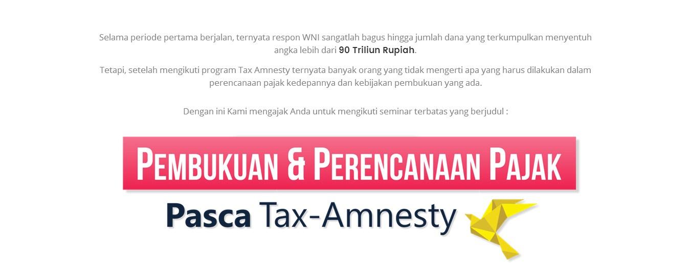 Seminar pembukuan dan tax planning pasca tax amnesty, Surabaya 22 Oktober 2016
