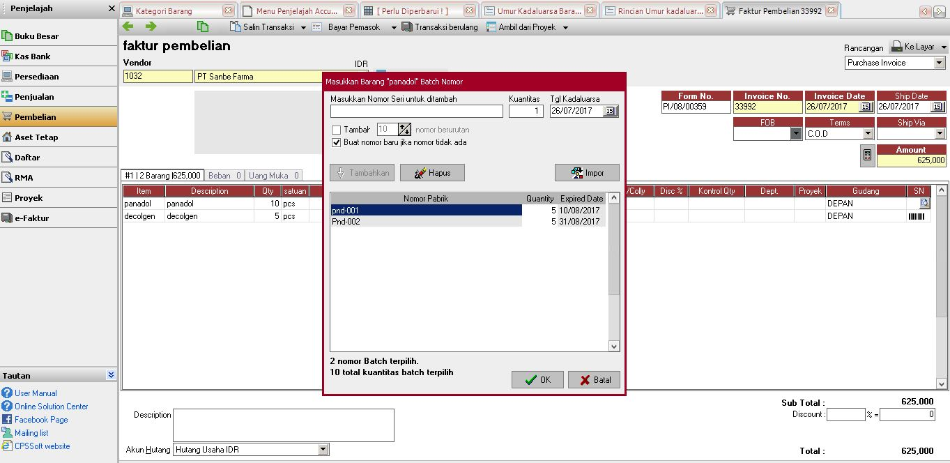 Software Akuntansi Untuk Bidang Usaha Apotek