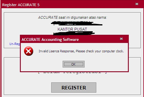 Solusi Gagal Registrasi Invalid License Response