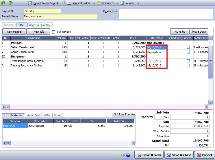 Informasi seputar laporan S-Curve dalam modul proyek Accurate Deluxe
