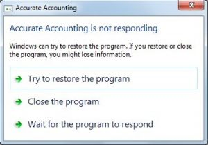 Solusi ACCURATE lambat atau ACCURATE Not Responding