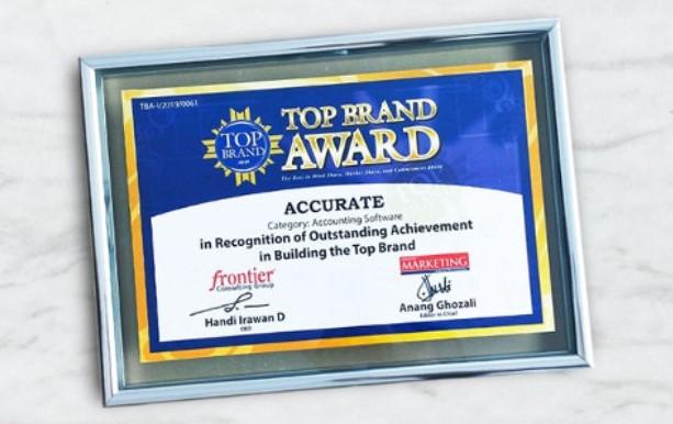 ACCURATE : SOFTWARE AKUNTANSI DENGAN PENGHARGAAN TOP BRAND AWARDS 2019