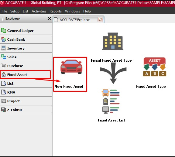 Fitur Fixed Asset ACCURATE Versi 5
