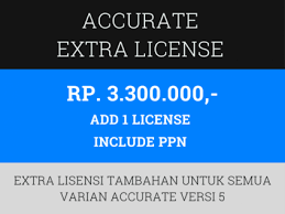accurate extra licensi versi 5