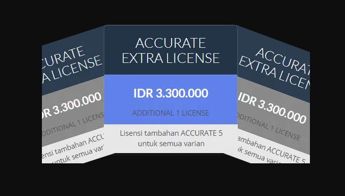 ACCURATE 5 Extra Licensi Semua Varian