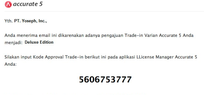 Prosedur Dan Harga Trade In Software Akuntansi Accurate